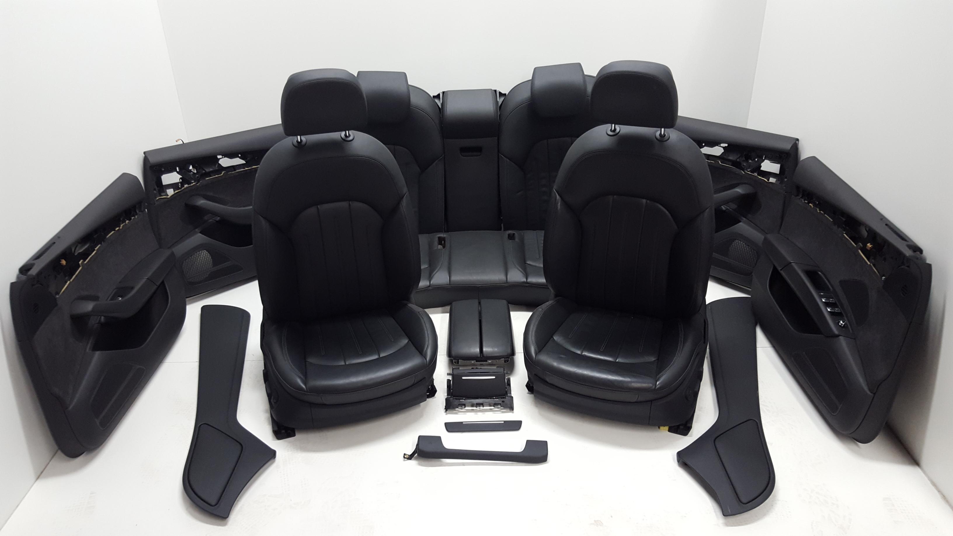 Original Audi A8 4H Innenausstattung Lederausstattung Leder schwarz ...